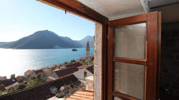 Perast - stone villa with a luxurious interior and views